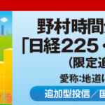 野村時間分散投資「日経225・国内債券」は長期投資向けではない